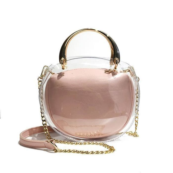 Unique Transparent Bag-in-Bag Set - Pink - Handbag Footsylicious