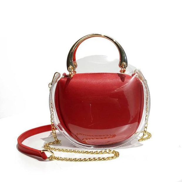 Unique Transparent Bag-in-Bag Set - Red - Handbag Footsylicious