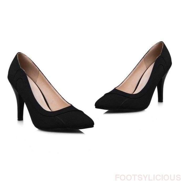 Urla Pumps - black / UK3 - Shoes Footsylicious