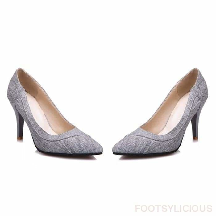 Urla Pumps - gray / UK3 - Shoes Footsylicious
