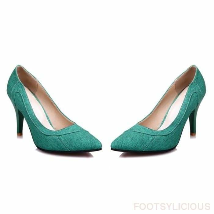 Urla Pumps - green / UK3 - Shoes Footsylicious