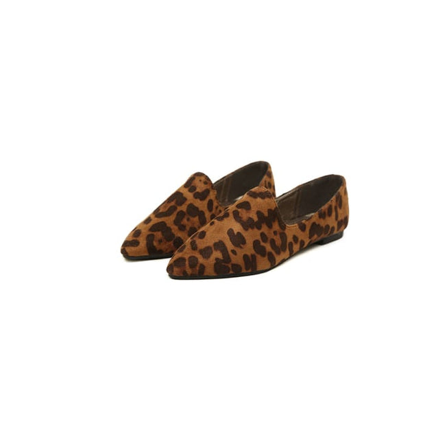 Wild Leopard Print Flats - Brown / UK5 - Flat Shoes Footsylicious