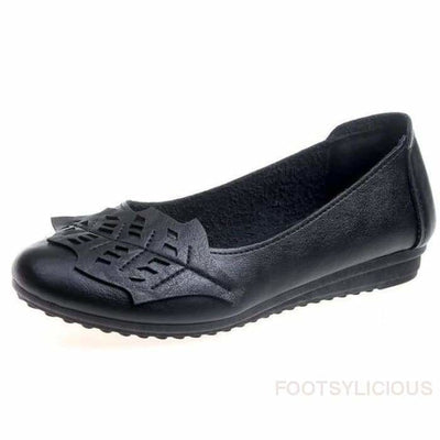 Wobi Loafers - Black / UK4 - Flat Shoes Footsylicious