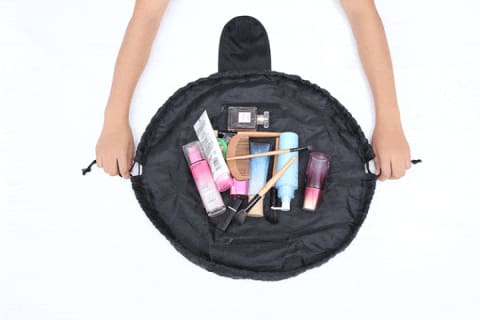drawstring lazy cosmetic bag