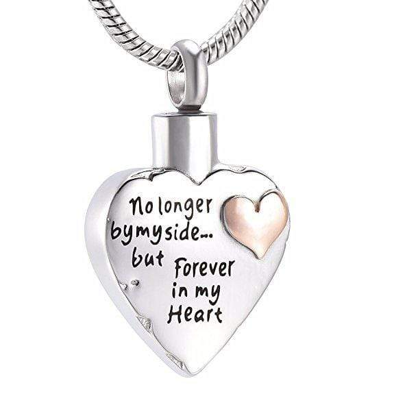 Silver No Longer By My Side But Forever In My Heart Cremation Necklace For Son Daughter Brother Sister Mum Dad Blank Son Daughter Nan Brother Sister Mum Dad