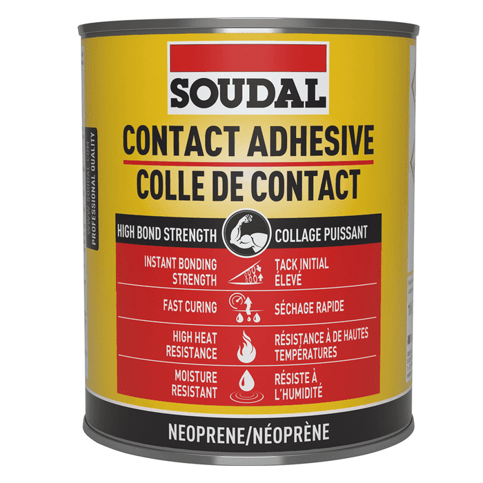 Soudal 110LQ Contact Adhesive 500ml Box of 18 Rubber Adhesive Soudal