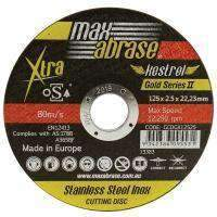 Sheffield Maxabrase 125mm Cutting Disc Stainless Gold Series II Carded (x3)