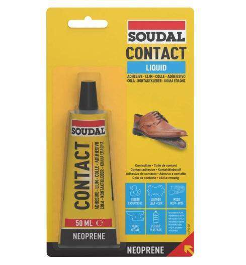 Soudal Contact Adhesive Liquid 50ml Box of 10 - SPF Construction Products