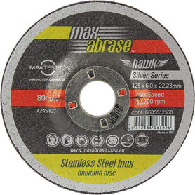 Sheffield Maxabrase Grinding Disc Silver Series Bulk Pack of 10