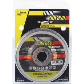 Sheffield Maxabrase Silver Series Grinding Disc Carded (x2)