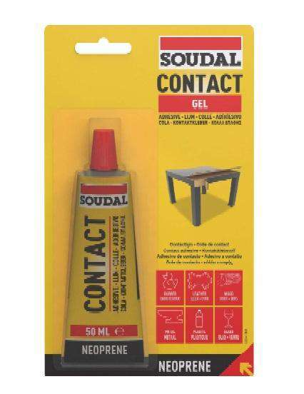 Soudal Contact Adhesive Gel 50ml Box of 10 Rubber Adhesive Soudal