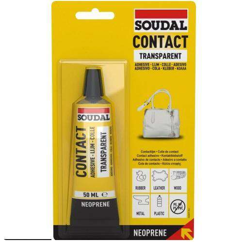Soudal Contact Adhesive Transparent 50ml Box of 10 - SPF Construction Products