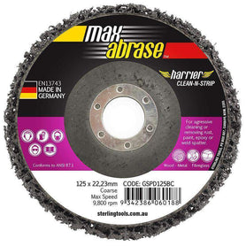 Sheffield MaxAbrase Black Coarse Clean'N' Strip Discs Surface Prep Pack of 5