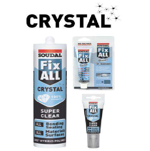 Soudal Fix ALL Crystal 125ml Clear Box of 10 - SPF Construction Products