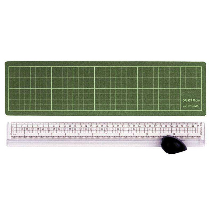 Sheffield Ruler/Cutter & Green Cutting Mat Cutting Mats Sheffield (1588050788424)