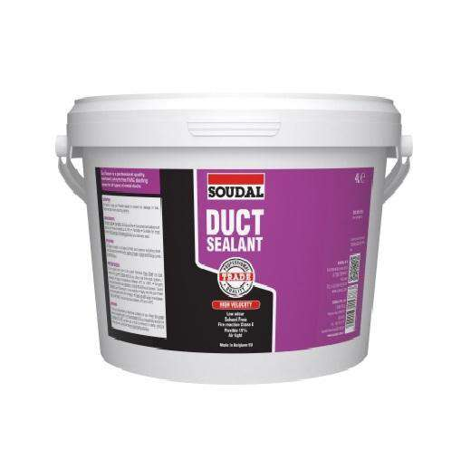 Soudal Duct Sealant Grey 4L Box of 4 - SPF Construction Products