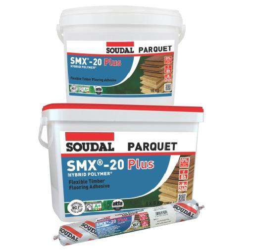 Soudal SMX-20 Plus Universal Timber Flooring Adhesive 600ml Box of 12 - SPF Construction Products