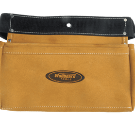 Wallboard Tools 2 Pocket Cow Hide Nail Bag 2 x Large Pockets