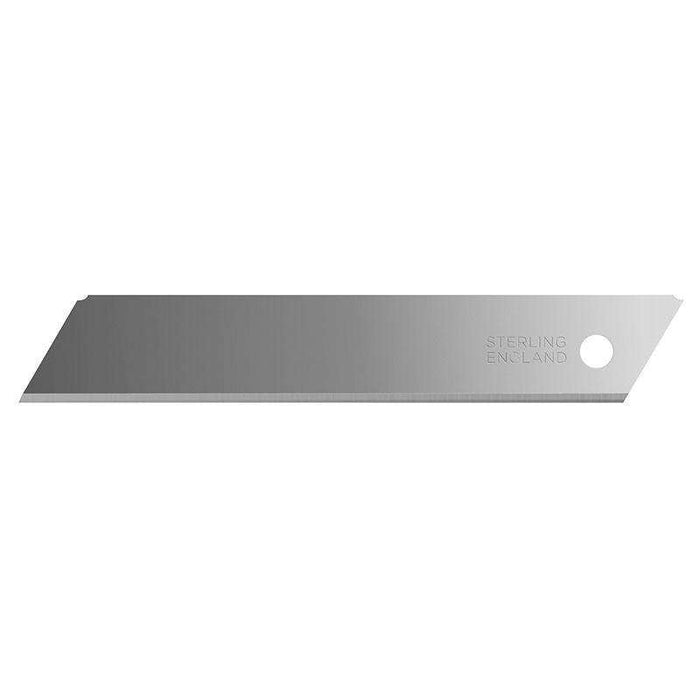 Sheffield STERLING 18mm Large Non Segmented Blade (x10) Snap-off Blades Sheffield (1566359224392)