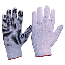 ProChoice Knitted Poly/Cotton with Pvc Dots Gloves Pack of 12 (1444667621448)