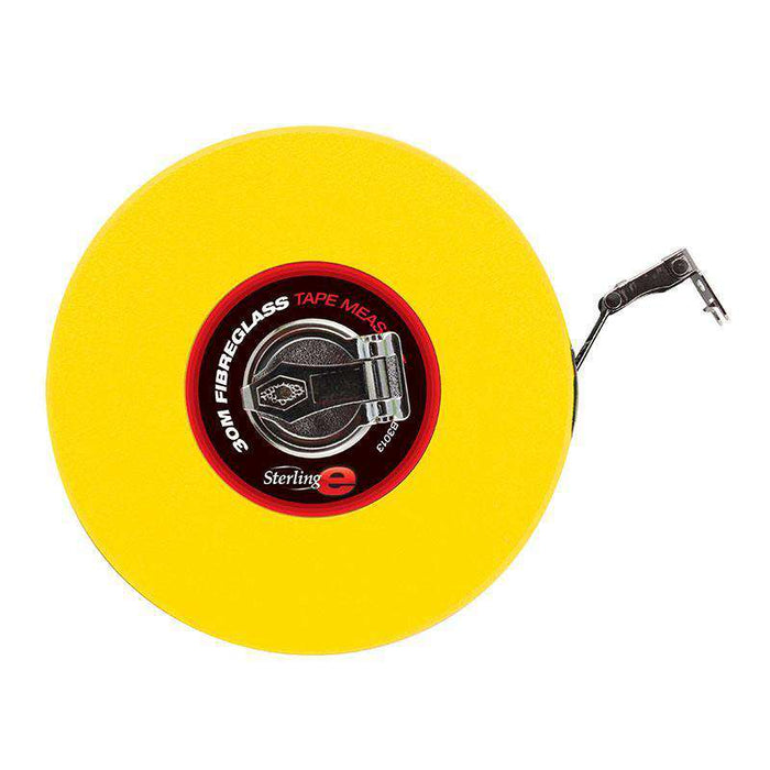 Sheffield Sterling 30m x 13mm Closed Case Fibreglass Reel Tape Measure