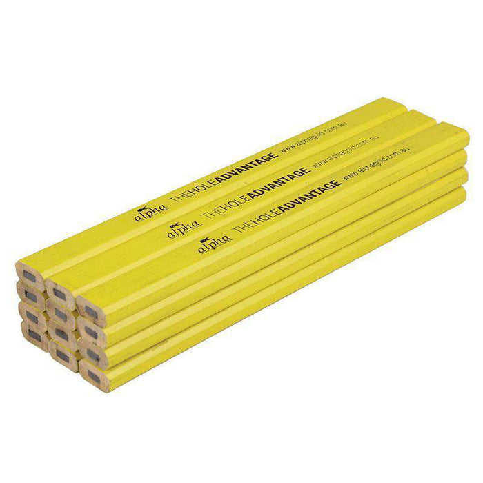 Sheffield Yellow ALPHA Carpenters Pencil Rulers Sheffield (1567868485704)
