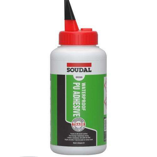Soudal Waterproof PU Adhesive 750g Box of 6 Glues Soudal (1436990013512)