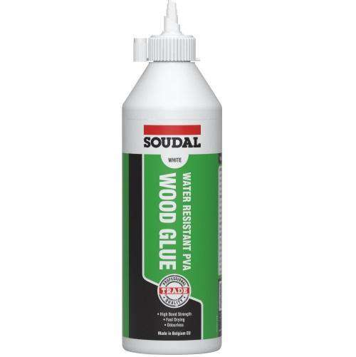 Soudal Water Resistant PVA Wood Glue 250ml Box of 12 Glues Soudal (1438418206792)