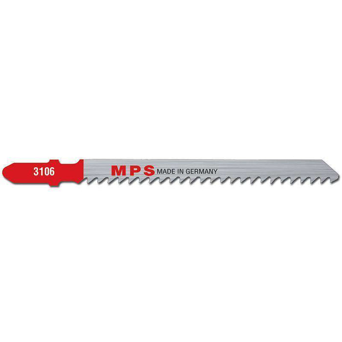 Sheffield MPS Jig Saw Blade 100mm, 8 tpi, Milled, Euro Shank (x5)