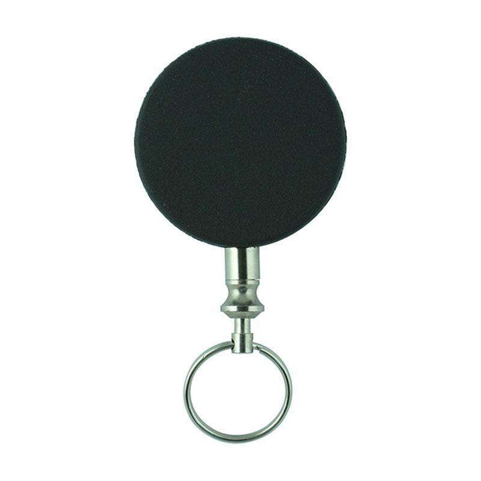 Sheffield Sterling Black Steel Chain Retractable Badge Holder