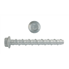 Bremick Hex Flange Head Galvanised Masonry Screw Anchors M6 Pack of 100 50mm
