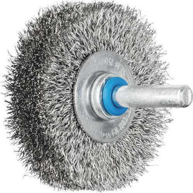 Pferd Shaft Mounted Wheel Brush Crimped Inox Wire 6mm Shaft Pack of 10 (1617545592904)