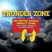 Sheffield Alpha Thunderzone HEX Impact Power Bit - Handipack (x10)