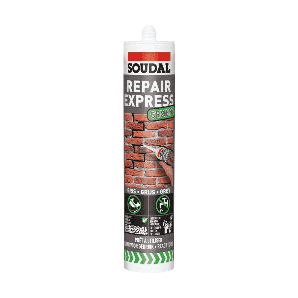 Soudal Repair Express Cement 300ml Box of 12 Beige - SPF Construction Products