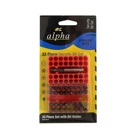 Sheffield Alpha 33 pce Hex to Square Adapter Security Bit Set Imperial