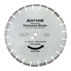Sheffield Austsaw 350mm(14in) Diamond Blade Segmented Hard Brick