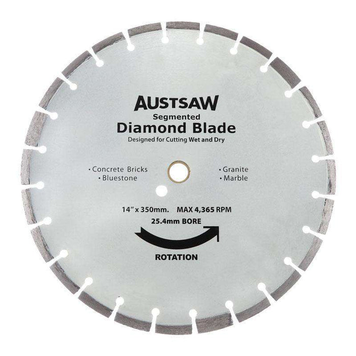 Sheffield Austsaw 350mm(14in) Diamond Blade Segmented Hard Brick (1595233566792)