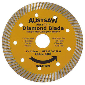 Sheffield Austsaw Ultra Thin Highest Diamond Blade Carded 1 Pce