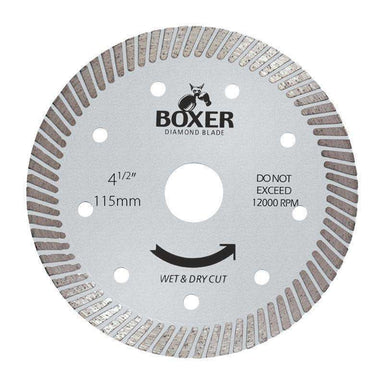 Sheffield Austsaw/Boxer - 115mm (4.5in) Diamond Blade Boxer Ultra Thin - 22.2mm Bore - Ult Austsaw Sheffield