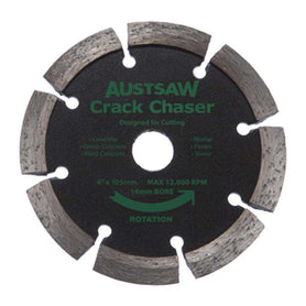 "Sheffield Austsaw 105mm (4"") V Point Diamond Blade Crack Chaser Carded"