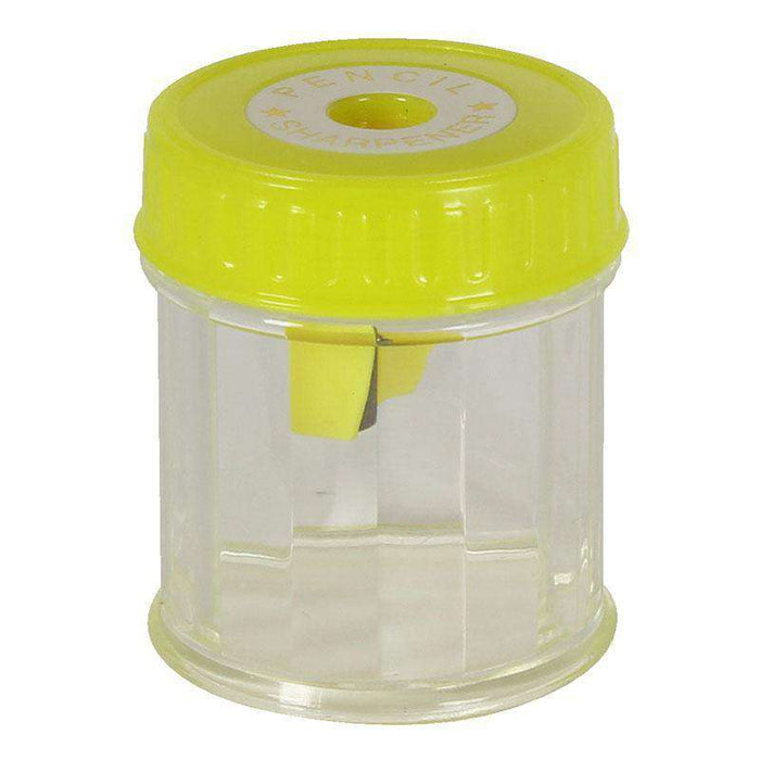 Sheffield Sterling Yellow Single Hole Plastic Barrel Pencil Sharpener