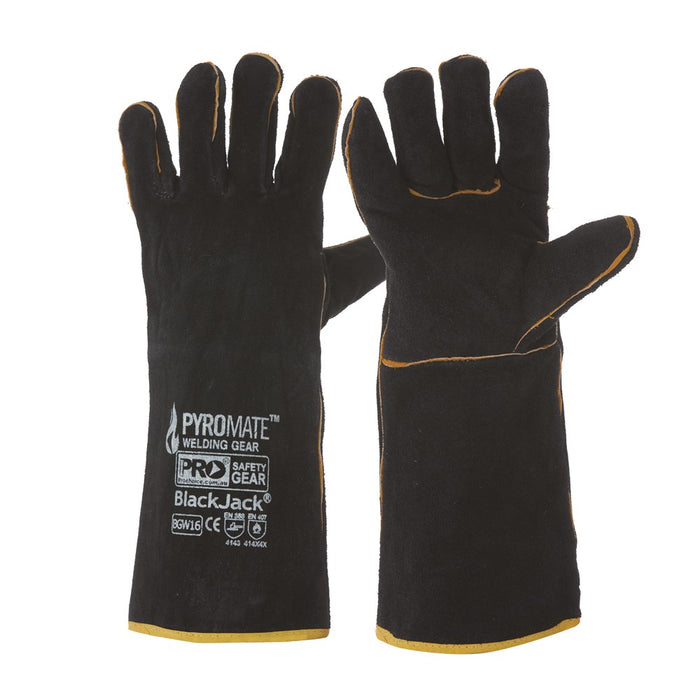 ProChoice Pyromate Black Jack - Black & Gold Glove Large Pack of 6 (1444697899080)