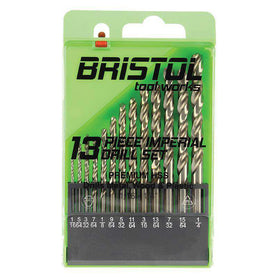 Sheffield Alpha Bristol Tool Works 13 Piece Straight Imperial Drill Set (1590181855304)