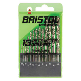 Sheffield Alpha Bristol Tool Works 13 Pce Straight Metric Drill Sets (1589831598152)