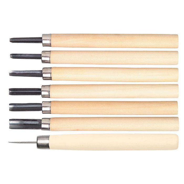 Sheffield Sterling Set of 6 Lino Carving Tools