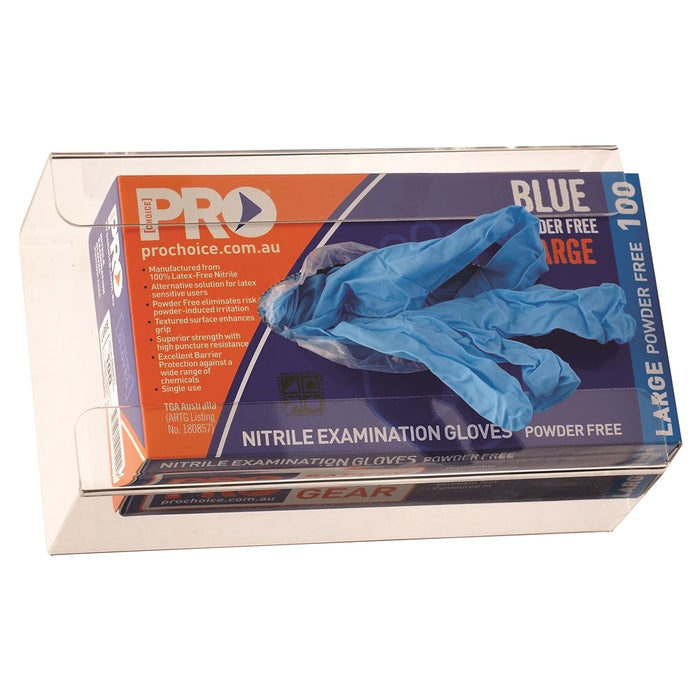 ProChoice Disposable Glove Wall Bracket Plastic with Clear Plastic (1444657791048)