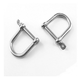 Inox World D Shackle Wide Mouth A4 (316) M12 Pack of 2
