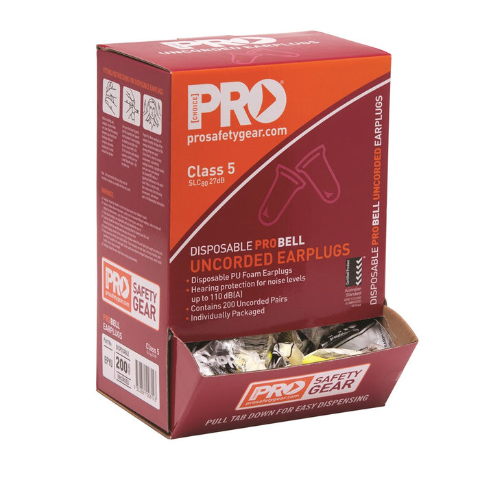 ProChoice Probell Disposable Uncorded Earplugs Uncorded (1443765190728)