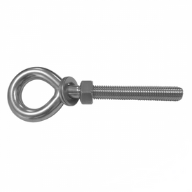 Inox World M6 Eye Bolt Kit With Nut & Washer A2 (304) Pack of 10 (4012673531976)