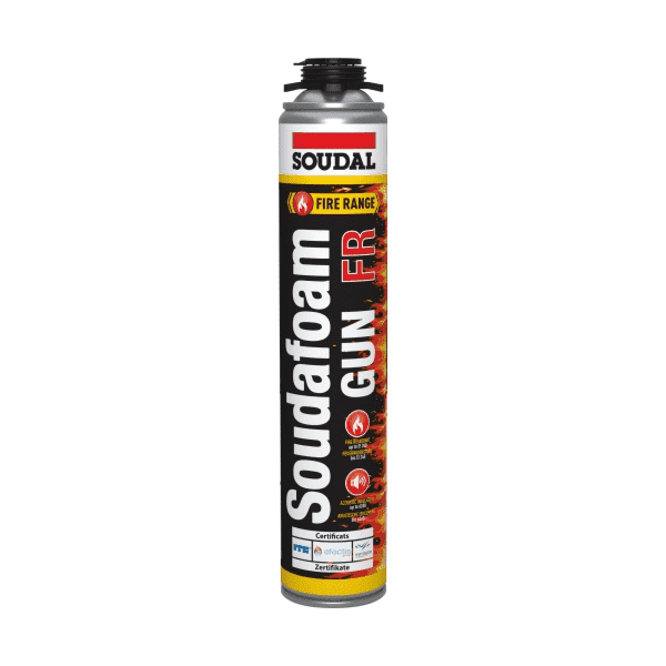 Soudal Soudafoam FR Gun Grade (Screw Top) Red 750ml Box of 12 - SPF Construction Products